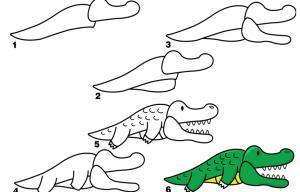 ζωγραφιές με ζώα - κροκόδειλος