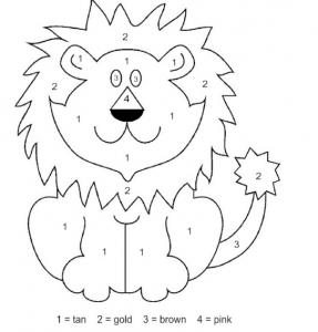 ζωγραφιές με ζώα - λιοντάρι