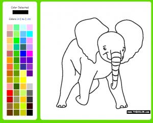 ζωγραφιές με ζώα - ελέφαντας