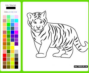 ζωγραφιές με ζώα - τίγρης