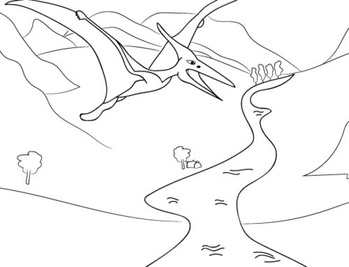 Δεινόσαυρος – ζωγραφιά για εκτύπωση