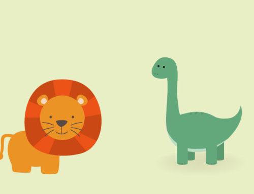 Το λιονταράκι και το δεινοσαυράκι